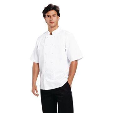 Picture of Whites Boston Unisex Short Sleeve Chefs Jacket White 2XL