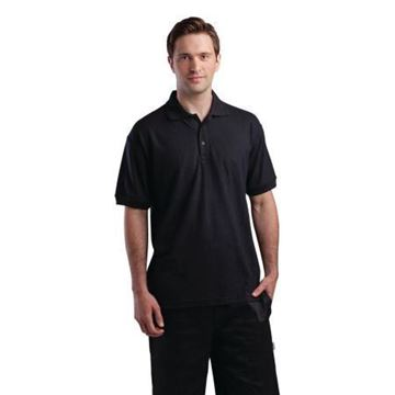 Picture of Unisex Polo Shirt Black S