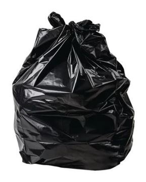 """Picture of 20x34x46"""" Black Compactor Sack x100"""
