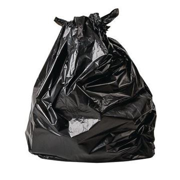 Picture of 18x33x39 Black Bag x200 12kg (120L)
