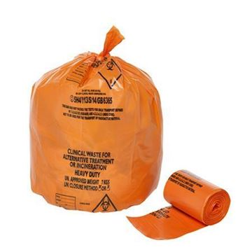 Picture of Med Duty Orange Clinical Waste Bag 8x25