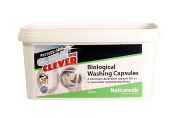 Picture of Clean and Clever Bio Laundry Tablets x100       60473