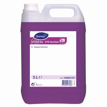 Picture of Suma Bac D10 Cleaner/Sanitiser 2x5L
