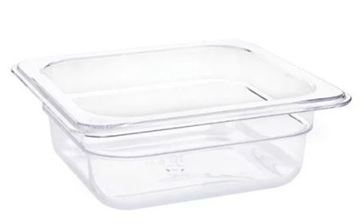 Picture of Vogue Polycarbonate 1/6 Gastronorm Container 65mm Clear