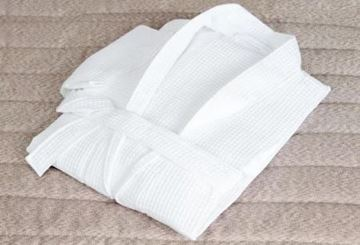 Picture of Mitre Essentials Honeycomb Bathrobe Large White