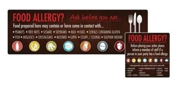 Picture of Food Allergen Window and Wall Stickers