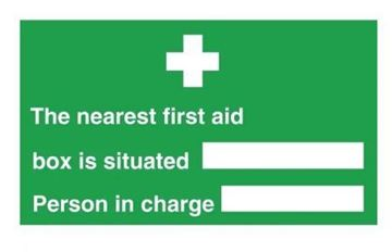 Picture of Nearest First Aid Box Sign