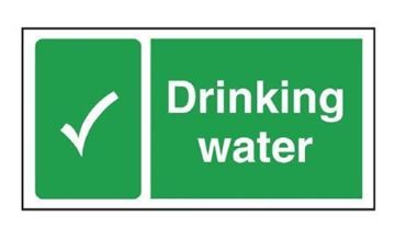 Picture of Drinking Water Sign 230 x 90mm