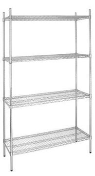 Picture of Vogue 4 Tier Wire Shelving Kit 915x460mm