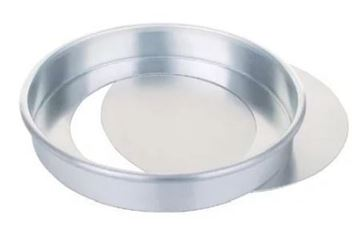 Picture of Aluminium Sandwich Cake Tin With Removable Base 230mm