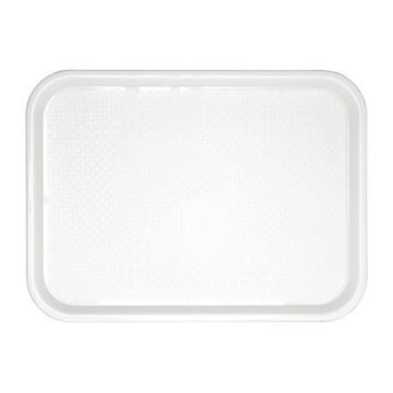 Picture of Kristallon Large Plastic Fast Food Tray White 450mm