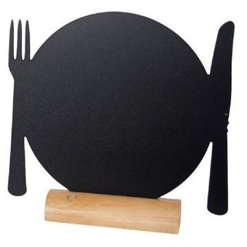Picture of Securit Mini Plate Shaped Blackboards (Pack of 3)