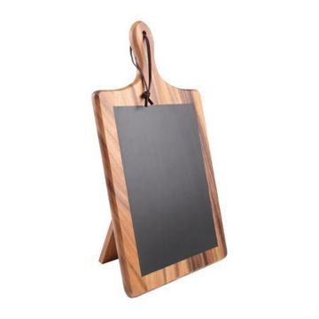 Picture of T&G Tuscany Acacia Paddle Chalk Board With