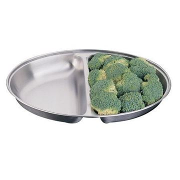 Picture of Olympia Oval Vegetable Dish Two Compartments 300mm