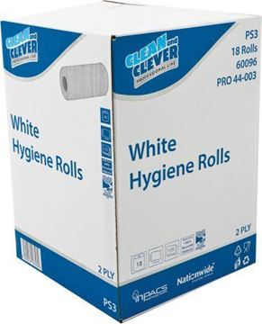 "Picture of Hygiene Roll 2ply White 10""x 18  H2W250"