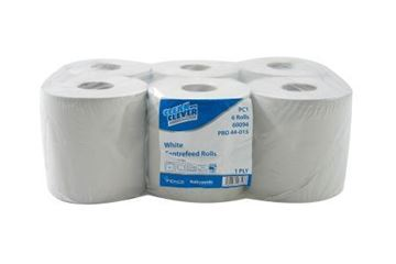 Picture of Clean and Clever PC1 C/Feed Roll White 1Ply 6x300m