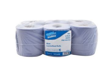 Picture of Centre Feed Roll Blue 1Ply 300m x6        60093