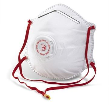 Picture of BBP2V White P2 Valved Face Mask x10