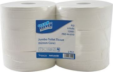 Picture of Clean and Clever Jumbo Roll SC 2Ply 400m x6 PJ2   12081