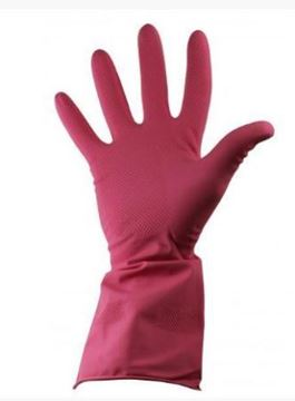 Picture of Red Rubber Glove M/W MED S.7/8    70060