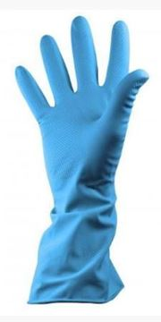 Picture of Blue Rubber Glove M/W MED S.7/8