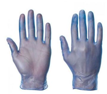 Picture of Blue Large PF Disposable Vinyl Gloves