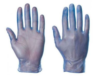 Picture of Blue XL PF Disposable Vinyl Gloves 56872 10x100