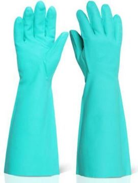 """Picture of NG18L Large Green Nirile 18"""" Gloves"""