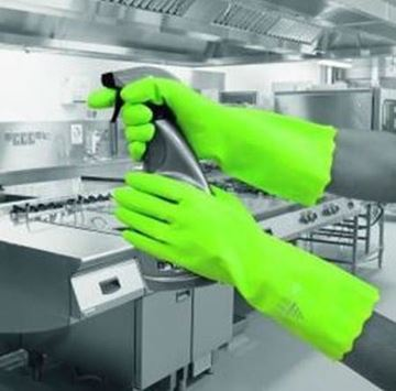 Picture of Pura PVC Flocklined Glove Green Large x12