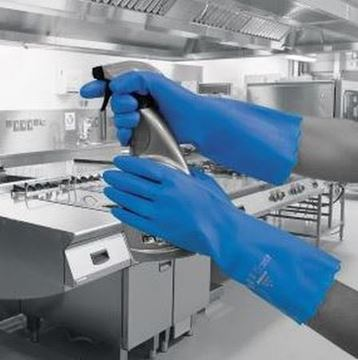 Picture of Pura PVC Flocklined Glove Blue Large x12