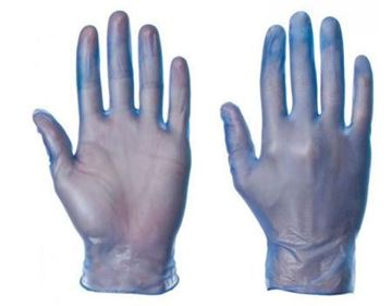 Picture of Blue Vinyl Disposable Glove SML x100