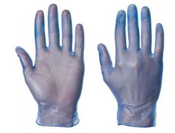 Picture of Blue Vinyl Disposable Glove MED x100