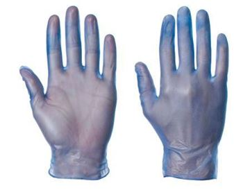 Picture of Blue Vinyl Disposable Glove LGE x100