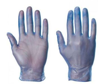 Picture of Blue Vinyl Disposable Glove XL x100