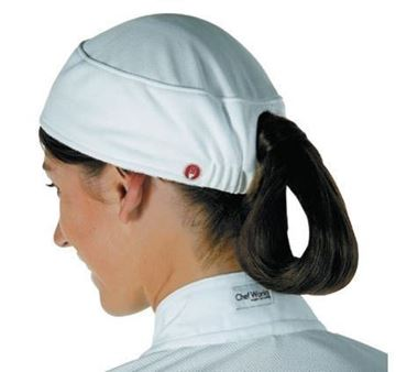 Picture of Chef Works Womens Total Vent Beanie White