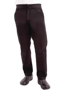 Picture of Chef Works Men's Lightweight Slim Trouser Black Size S