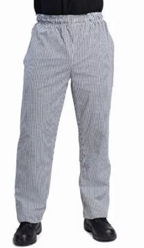 Picture of Whites Unisex Vegas Chefs Trousers Black and White Check XS