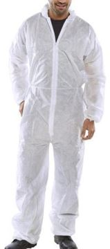 Picture of PDBSHWL Non Woven Coverall White Large