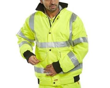 Picture of BD75SYL Hi Vis Bomber Jacket Large