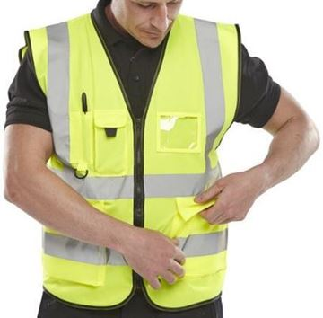 Picture of WCENGEXECL Hi Viz Executive Waistcoat