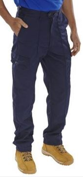 "Picture of PCTHW34T Navy Trouser 34""Tall"