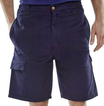 "Picture of CLCPSN34 Navy Shorts 34"" Waist"