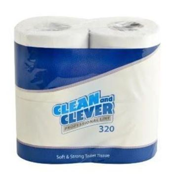 Picture of Clean and Clever White Toilet Rolls 2Ply 36 Rolls