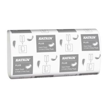Picture of 344104 Katrin Plus Hand Towel Easyflush C-Fold White