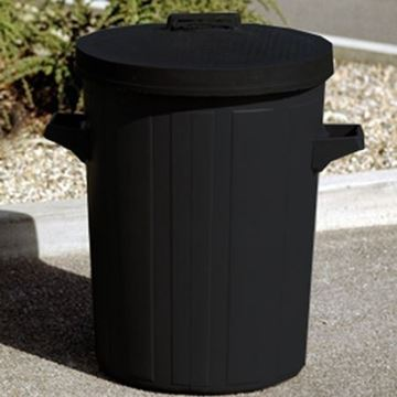 Picture of Grey 90L H/Duty Plastic Dustbin With Lid