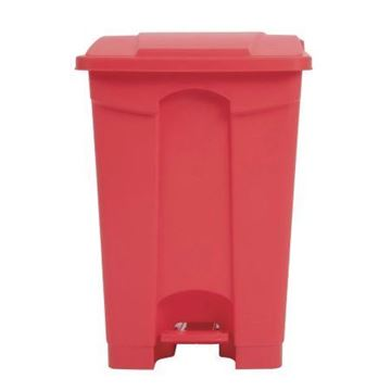 Picture of DC708 Jantex Kitchen Pedal Bin Red 45L