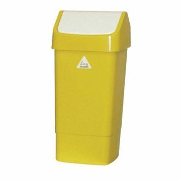 Picture of 50L Swing Top Bin M/Yellow Std