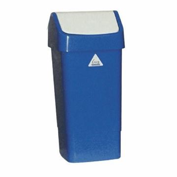 Picture of 50L Swing Top Bin Blue Std