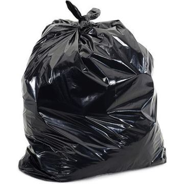 Picture of 730 Black Square Bin Liner x500 15x24x24 DLN