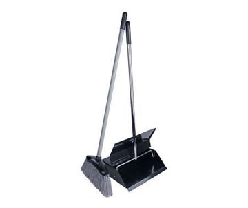 Picture of 101040 Lobby Dustpan & Brush Black